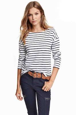 H and M Top With Zips, Breton
