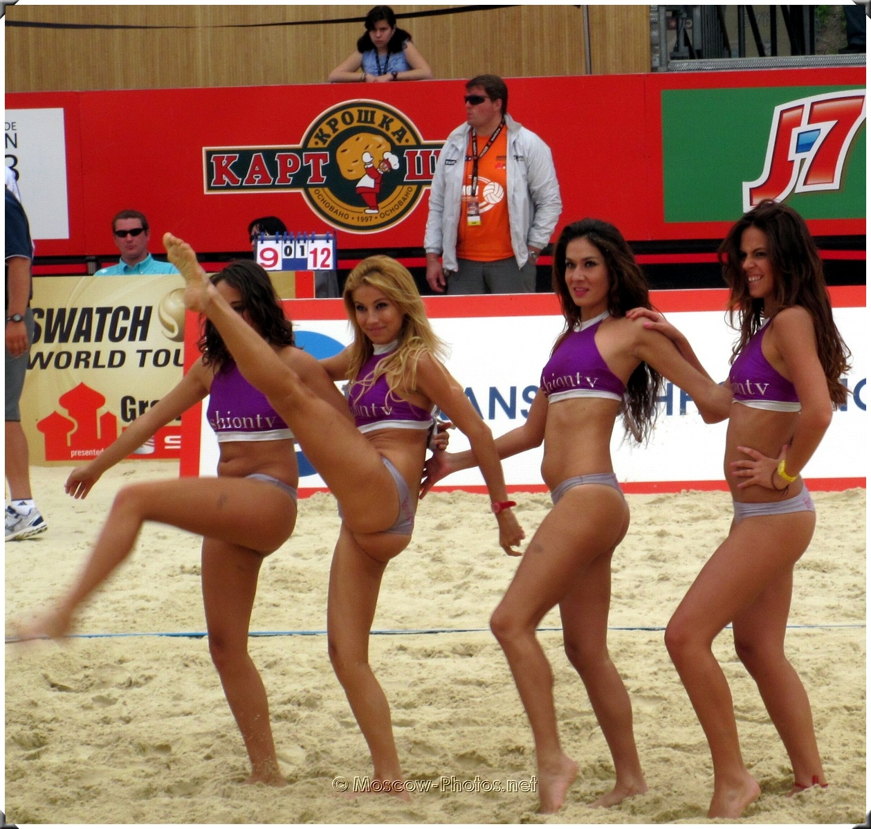 Beach Volley Dancing Bikini Cheerleaders