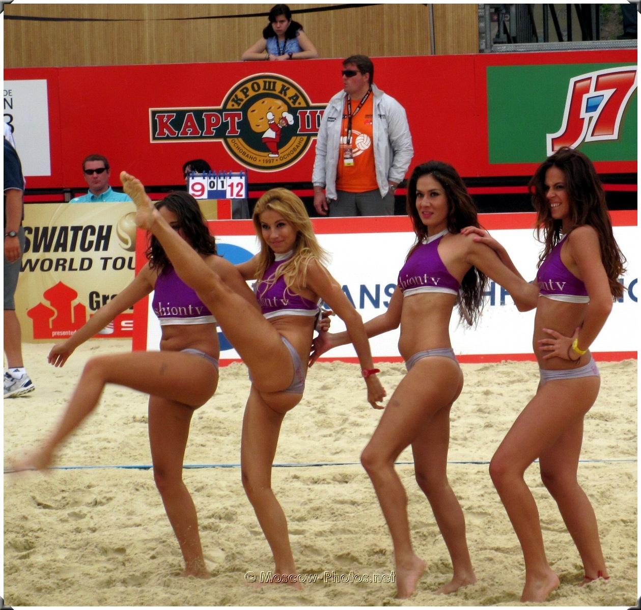 Beach Volley Dancing Bikini Cheerleaders