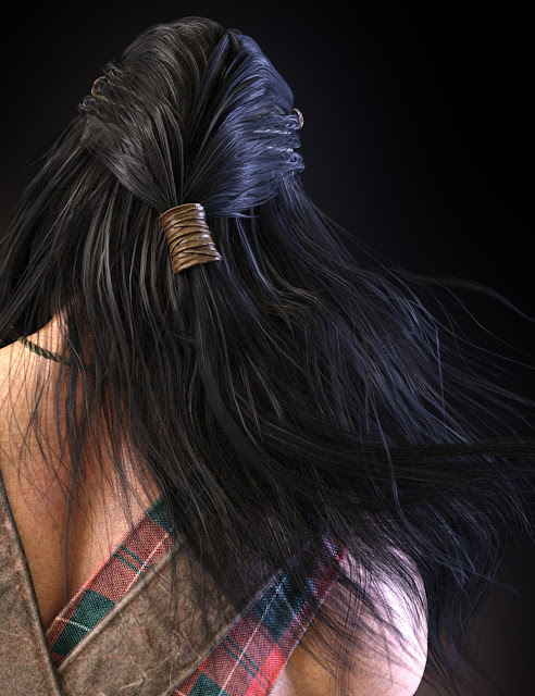Dragonsbane Barbarian Hair and Beard for Genesis 3 Male
