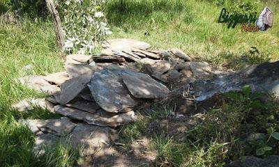 Pedra para calçamento tipo chapa de pedra moledo.