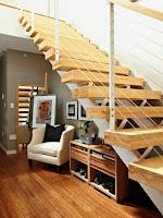 Ideas para ahorrar espacio debajo de la escalera