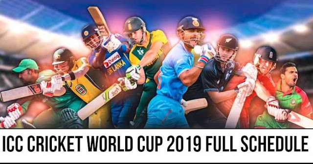 ICC Cricket World Cup 2019 Full Schedule, Time Table and Fixtures