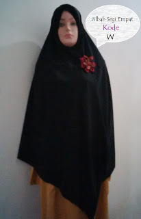 jilbab segi empat tebal lebar syari khimar warna hitam yang jatuh adem mudah diatur model terbaru tutorial hijab