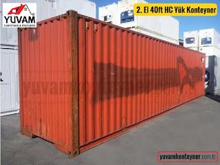 40lık high cube yüksek boy yük konteyner