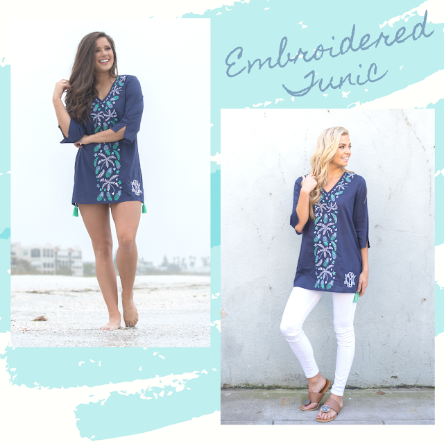 Embroidered tunic beach and brunch styling