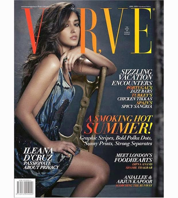Ileana D'Cruz Verve Magazine April 2015
