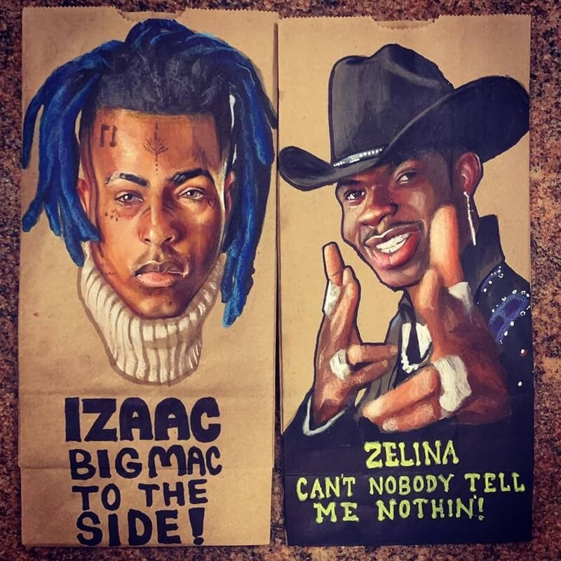 12-XXXTentacion-and-Lil-Nas-X-L-Jinks-Brown-Bag-Art-Father-and-Drawings-for-Children-www-designstack-co
