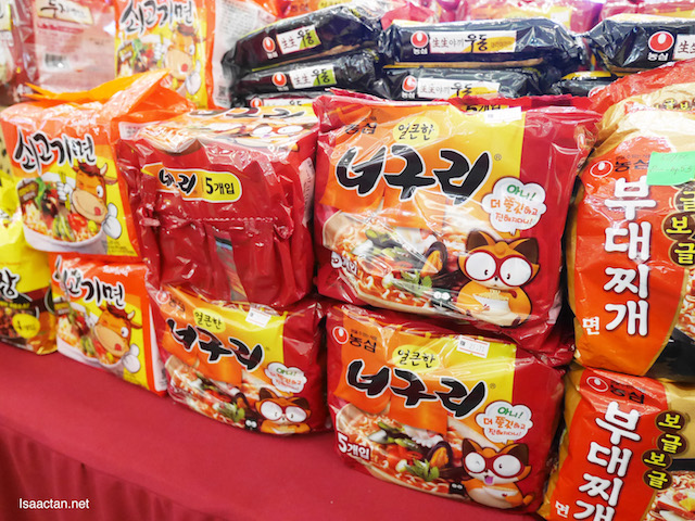 Get your Korean noodles here, so many different types