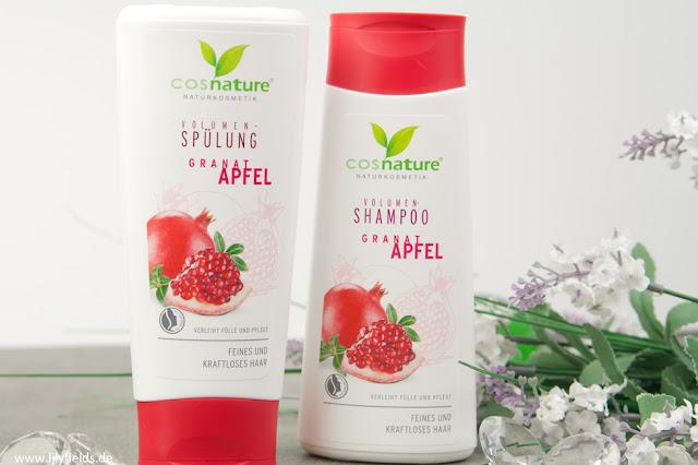 Volumen-Shampoo und Spülung Granatapfel