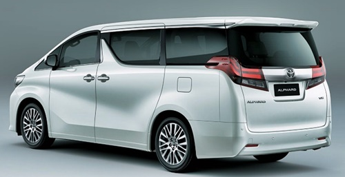 New Toyota Alphard Snow White Metallic 2015