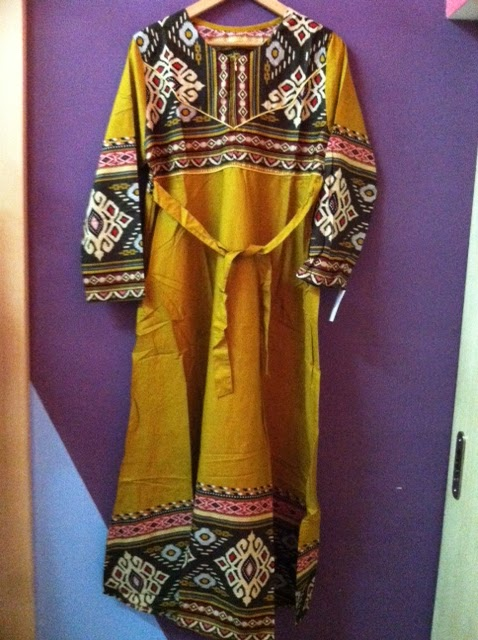 Gamis Songket Kuning