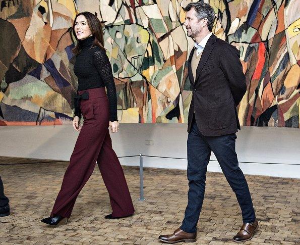 Crown Princess Mary visited Museum Jorn in Silkeborg before Crown Prince Couple's award ceremony Jysk Theater