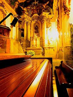 Santos na Igreja de São Francisco, em São Paulo