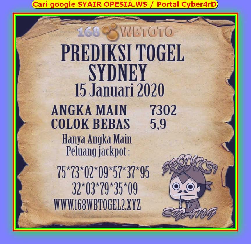 Kode syair Sydney Rabu 15 Januari 2020 54