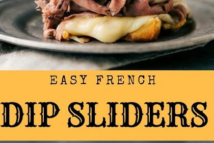 Easy French Dip Sliders #christmas #dinner