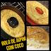 Receita da atleta Aline Barreto de bolo de aipim com coco sem açúcar e sem lactose