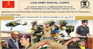 army+dental+corps+as+short+service+commission+officer+2016