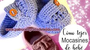 Aprende a tejer mocasines a crochet para bebés paso a paso en español