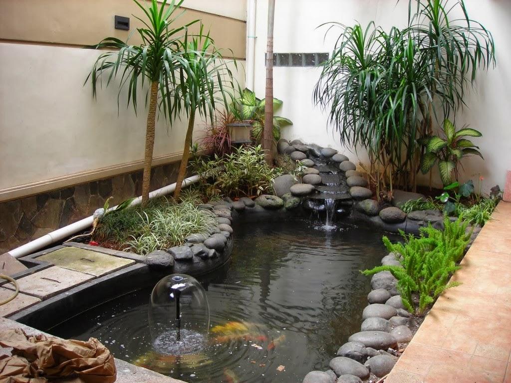 40 gambar kolam ikan minimalis kolam ikan koi kolam ikan for Home pond design