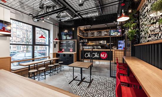 desain interior unik cafe kontainer