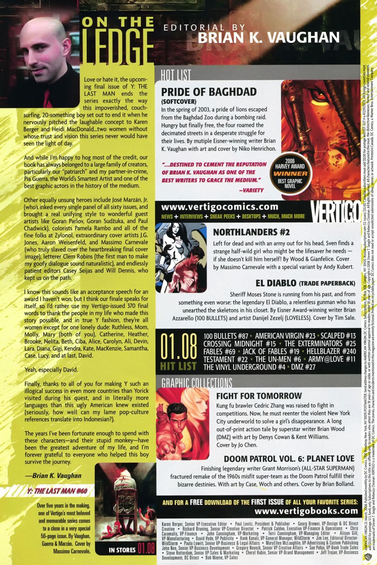 Read online American Virgin comic -  Issue #23 - 24