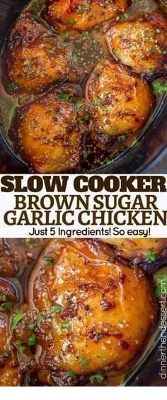 Slow Cooker Brown Sugar Garlic Chicken