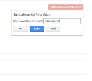 Cara kirim sitemap ke search console