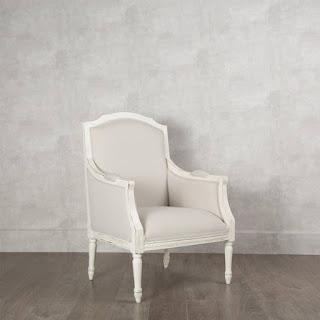 Sillon Clasico Blanco Tapizado Roble Acker