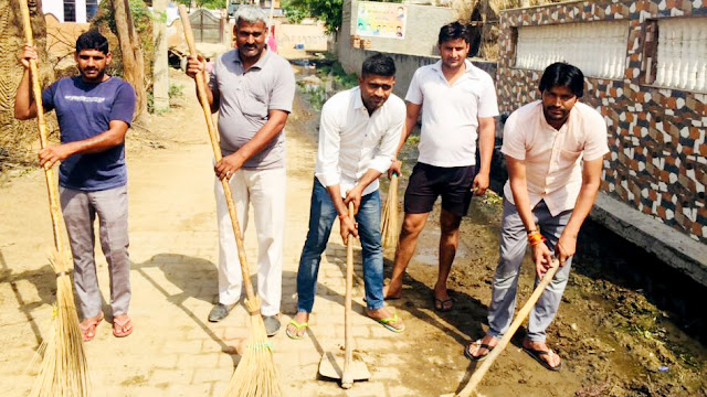 Cleanliness campaign launched in Amipur village on the birthday of Chief Minister Manohar Lal; Dinesh Bhati