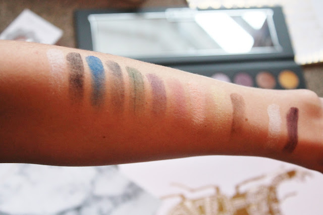Kat Von D Metal Matte Palette Swatches - Matte Shadows
