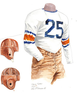 1933 University of Florida Gators football uniform original art for sale