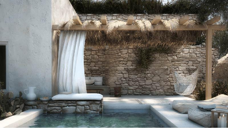 piscina in pietra naturale