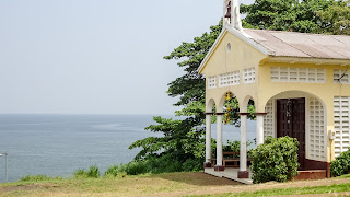 Its small church in Riaba on the hill in Equatorial Guinea