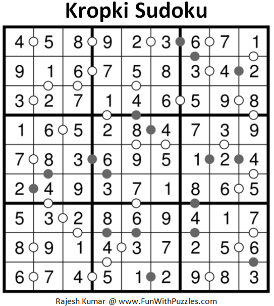 Kropki Sudoku (Fun With Sudoku #214) Solution