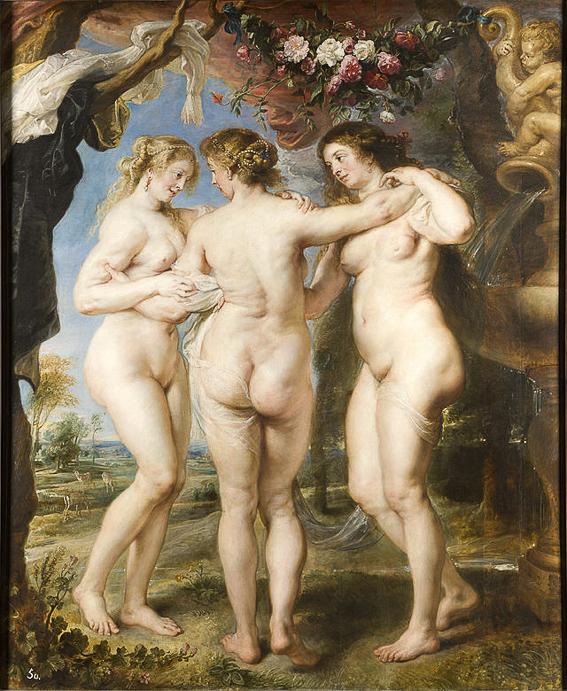 Las tres gracias Rubens Museo Prado
