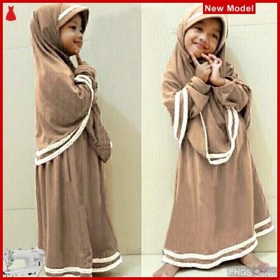 FHGS9063 Model Syari Anak Hanifa, Muslim Mocca Pakaian Anak BMG