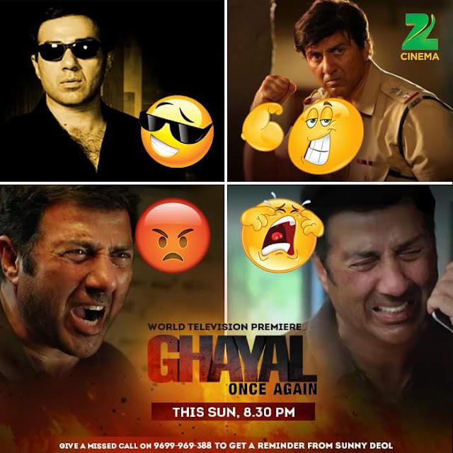 'Ghayal Once Again' Movie Tv Premier on Zee Cinema Channel Wiki Full Detail