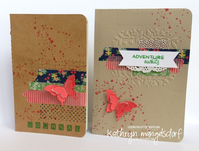 Stampin' Up! Floral Affection Textured Impression Embossing Folder, Affectionately Yours Designer Washi Tape by Kathryn Mangelsdorf