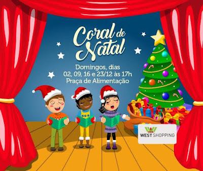 West Shopping promove concerto gratuito do coral Anunciart