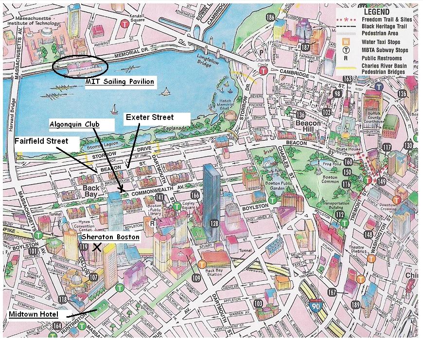 Map of Boston USA