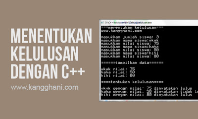 Program Menentukan Kelulusan dengan C++ (Array)