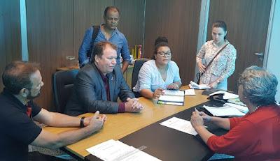 Dr. Neidson se reúne com dirigentes da Seagri e Funai para discutir entrega de tratores em aldeias de Guajará-Mirim