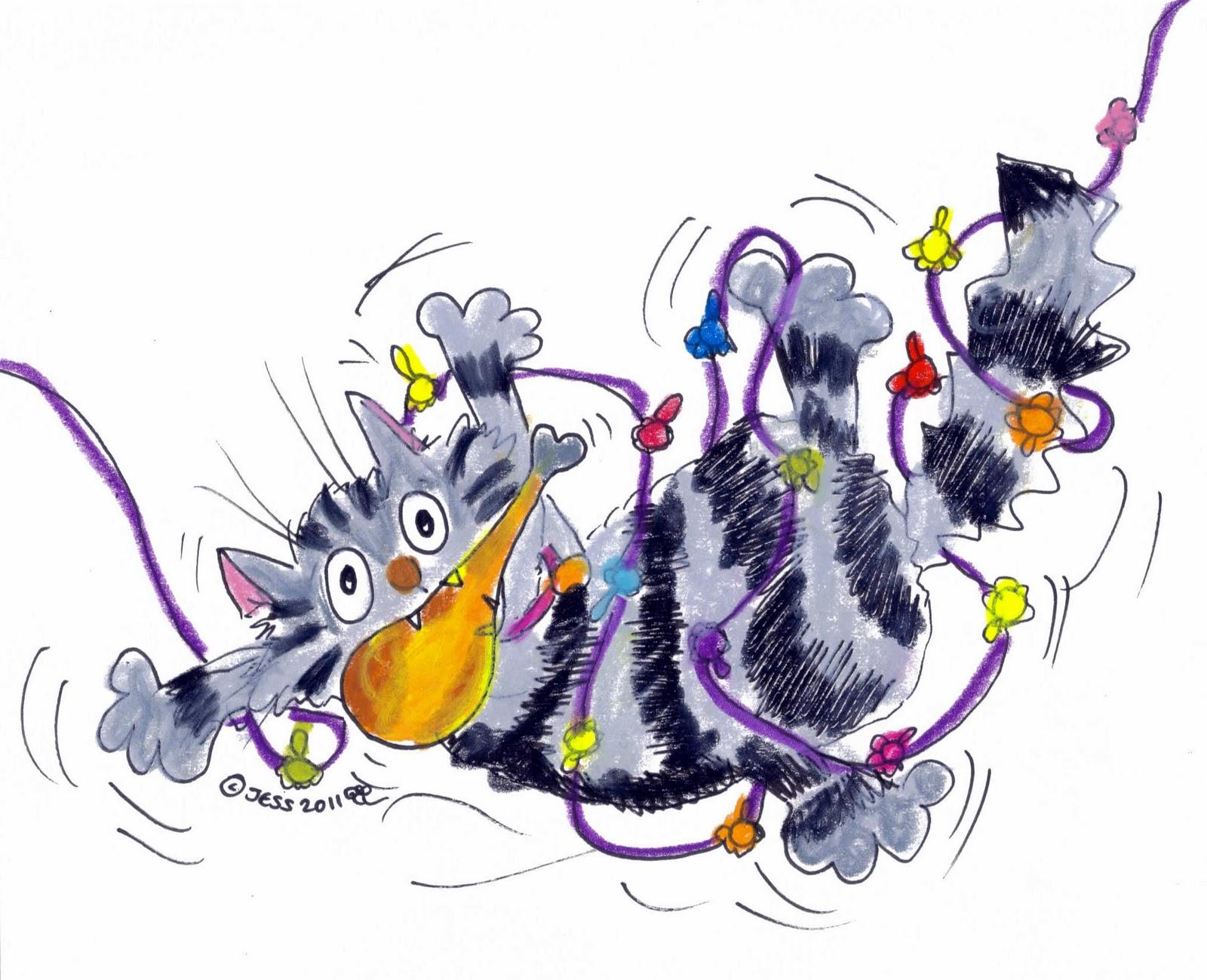 Idgie The Cat Turkey Tangle