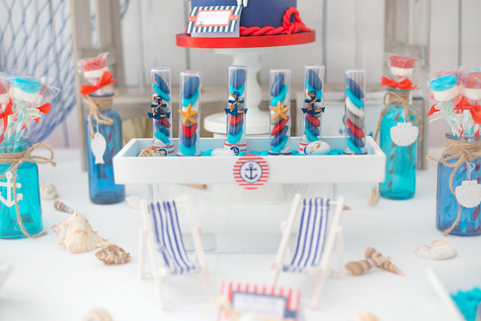 Como decorar una mesa dulce de estilo navy by Habitan2 | Decoración de hogar y eventos Habitan2 |Event planner