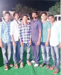 military person with his friends