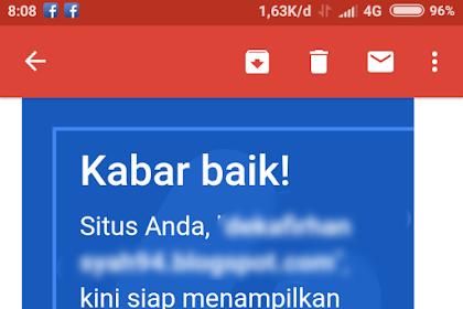 Akhirnya Blog ini diterima Google Adsense