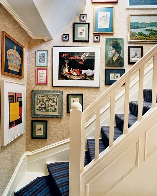 50 Creative Staircase Wall decorating ideas, art frames ... on Creative Staircase Wall Decorating Ideas  id=13614
