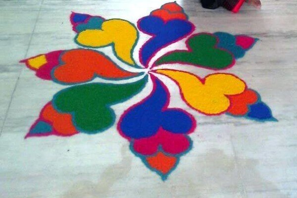 latest rangoli designs for Diwali