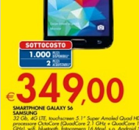 Sottocosto Bennet - Samsung Galaxy S6 32 GB a 349€